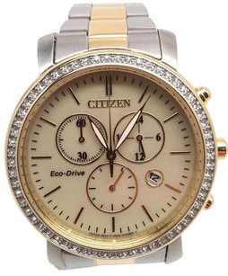 Citizen Citizen Eco-drive Ladies Drive Aml Two Tone Chronograph Watch Fb1412-52p