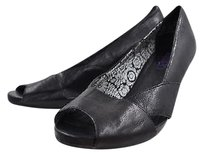 Clarks Indigo Womens Leather Open Toe Heels Black Pumps