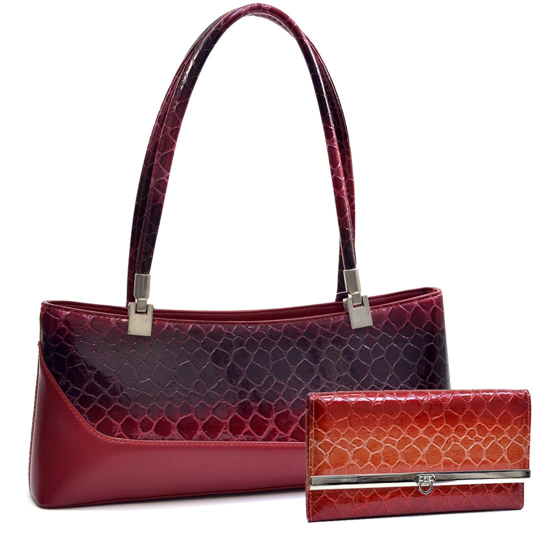 Red faux leather shoulderbag YHrAhhZX