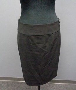 Classiques Entier Wool Lined Fitted Straight Pencil Sm7516 Skirt Black
