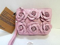 Clever Carriage Company Leather Pink Clutch