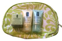 Clinique New Clinique Bundle All About Eyes, Dramatically Different Moisturizing Lotion, Liquid Facial Soap Mild & Cosmetic Bag