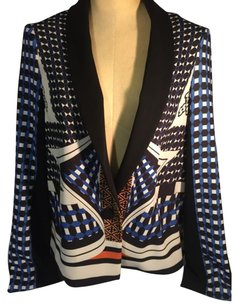 Clover Canyon Blue/black/white Blazer