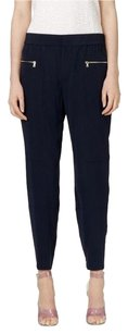 Club Monaco Capri/Cropped Pants Navy and Gold
