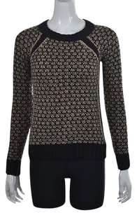 Club Monaco Womens Black Crewneck Long Sleeve Shirt Sweater
