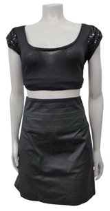 Club Monaco High Waist Pencil Skirt Black