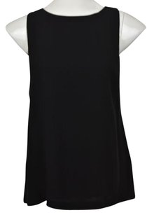 Club Monaco Womens 00 Sleeveless Casual Solid Tank Shirt Top Black