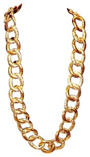 Coach Coach Gold Tone Signature Chunky Statement Chain link Necklace