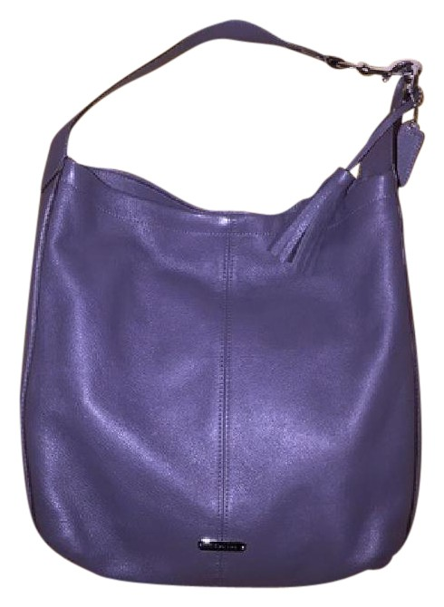 8d51276707fe ... new style coach lilac leather slouch pebbled leather hobo bag cad6b  0199b