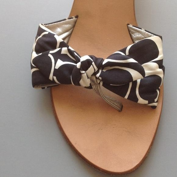 coach black and white sandals on sale 53 sandals