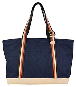 Coach Bleecker Canvas Multifunction Tote in Navy