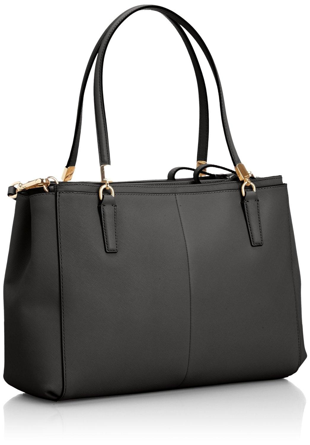 5b871d73fcafa ... italy coach christie 29422 madison carryall purse black saffiano  leather satchel tradesy 71150 8108a