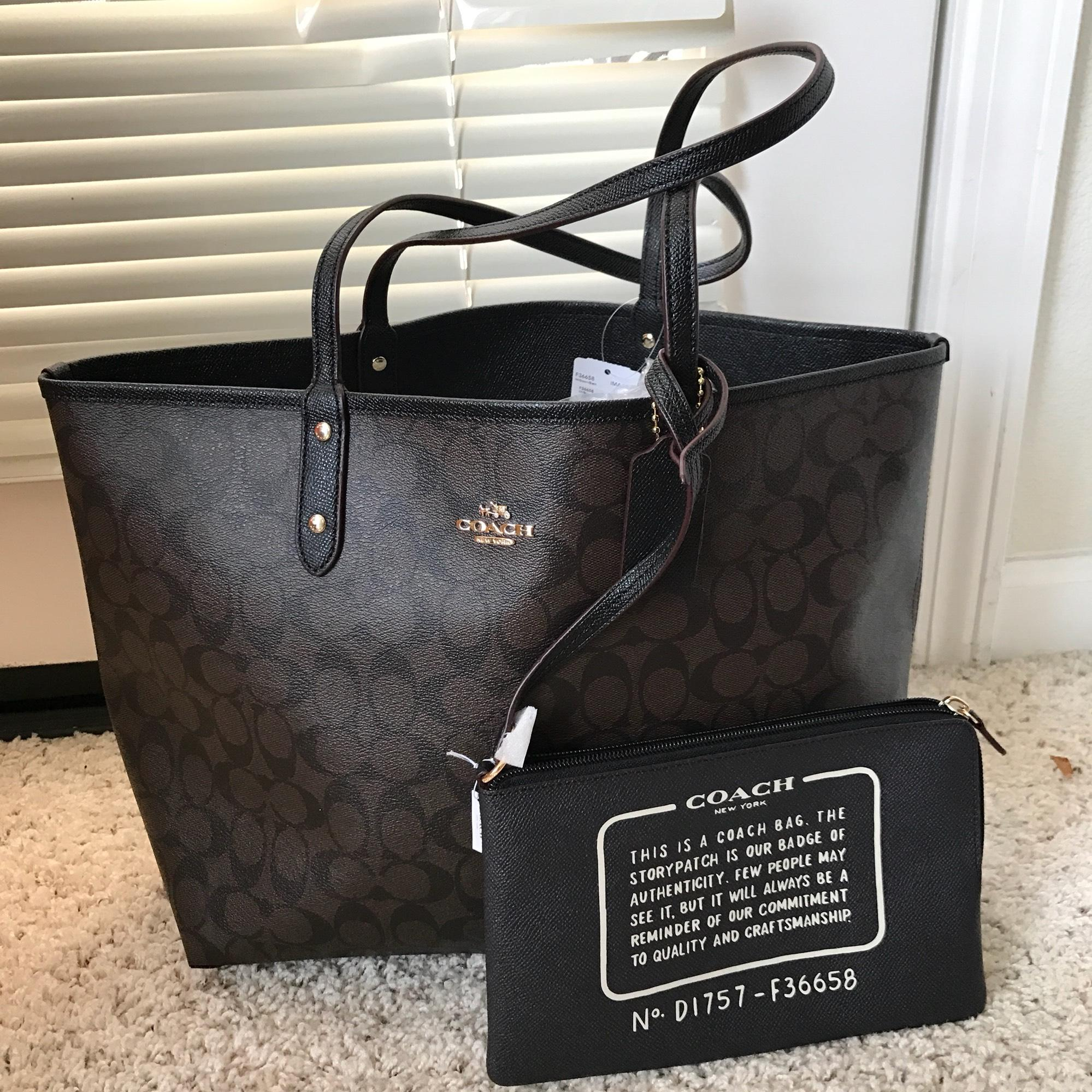 6b63460f293 where can i buy brown and black coach tote 38575 a15f2
