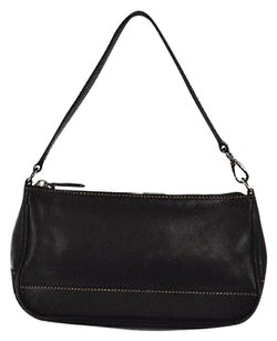 Coach Womens Cowhide Leather Handbag Casual Black Clutch