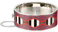 Coach Coach 90776 Silver Fire Dance Hinged Printed Enamel Bangle