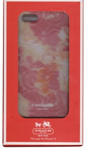 Coach Coach Hardshell OP Art Coral Multi-color Floral Case Cover iPhone 5/5S