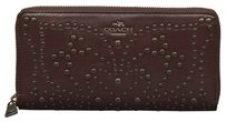 Coach Coach Mini Studs Accordian Zip Wallet
