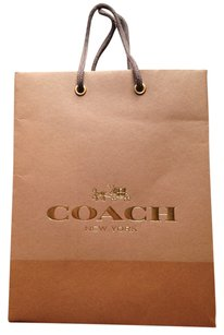 Coach Coach paper shopping gift bag brown and gold