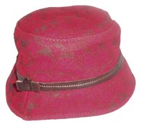 Coach Coach Red Wool Logo Bucket Hat Monogram