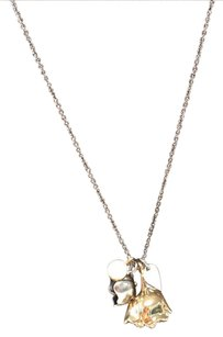 Coach coach two toned flower necklace
