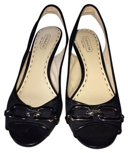 Coach Cynthia Wedge New Black Wedges