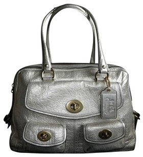 Coach Dooney Channel Louis Vuitton Gucci Vintage Satchel in Metallics