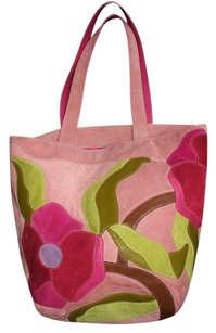 Coach Dooney Gucci Louis Vuitton Rare Tote in Pink, Multicolor
