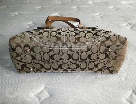 Coach Dooney Bourke Louis Vuitton Chanel Rare Tote in Khaki, Butterscotch