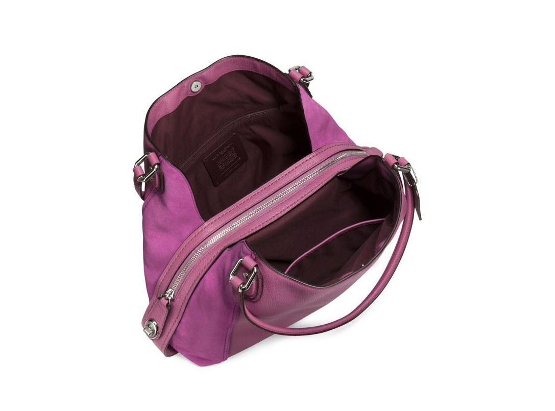 italy coach edie shoulder bag violet queen be137 fb968 ce3fa1652c1f8