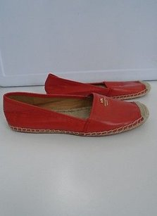 Coach Crimson Leather Red Flats