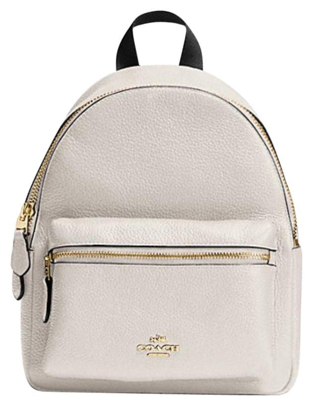 Lovely Coach F38263 Charlie Mini Chalk White Leather Backpack - Tradesy ZA59