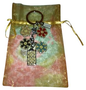 Coach Flowered C Key Chain/Purse Charm- AND COACH PAPER-LIKE NEW-Retail$78