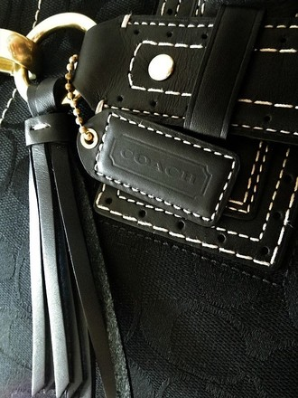 Coach Louis Vuitton Gucci Vintage Tote in Black