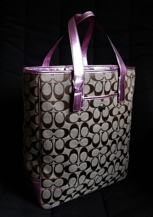 Coach Louis Vuitton Dooney Bourke Gucci Channel Vintage Rare Tote in Metallics