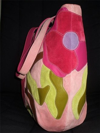 Coach Dooney Bourke Gucci Louis Vuitton Rare Tote in Pink, Multicolor