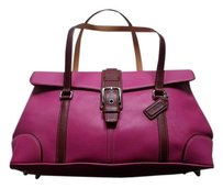 Coach Louis Vuitton Dooney Bourke Satchel in Pink Burgundy