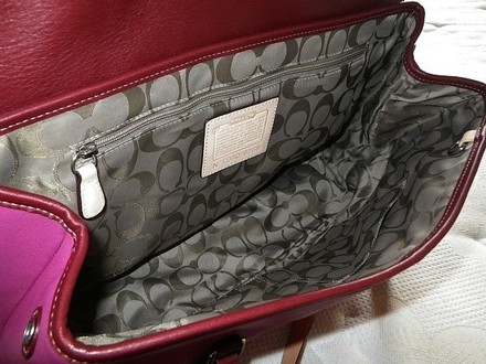 Coach Louis Vuitton Dooney Bourke Chanel Satchel in Pink Burgundy