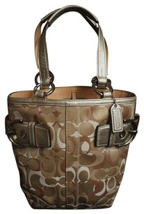 Coach Louis Vuitton Dooney Bourke Tote in Metallic