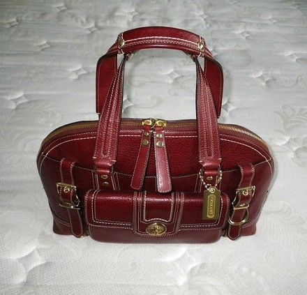 Coach Louis Vuitton Dooney Gucci Channel Rare Vintage Tote in Red