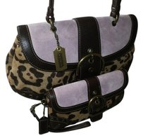 Coach Louis Vuitton Dooney Bourke Wristlet in Brown, Lilac, Animal Print
