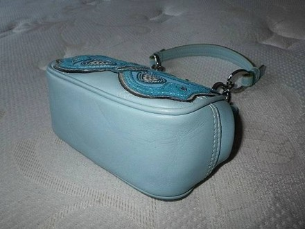 Coach Hermes Channel Gucci Dooney Bourke Vintage Satchel in Blue