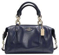 Coach Madison Leather 33806 F33806 Satchel in Navy Midnight Blue