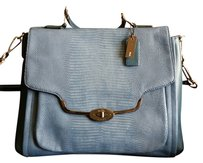 Coach Madison Sadie Indigo Satchel in Blue (Indigo)