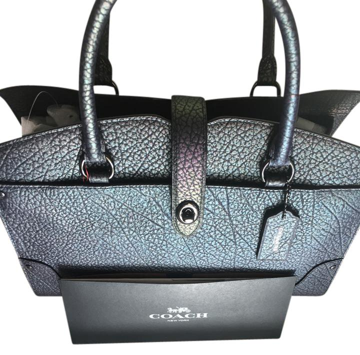 527f5601c6413 ... denmark coach leather iridescent pebbled leather satchel in hologram  5ef46 7f27b