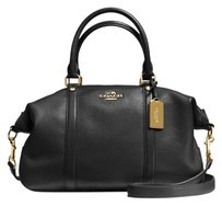 Coach Pebble Leather Leather Satchel in Black