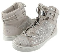 Coach Penda Suede Womens Designer Lace Up High Top Sneakers Parchment/ Clear Athletic
