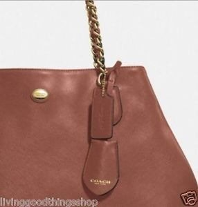0081daf68cdb italy coach peyton signature chain tote bag a7108 d7519  discount code for  coach peyton leather chain shoulder brown saddle tote tradesy 0168a 223e9