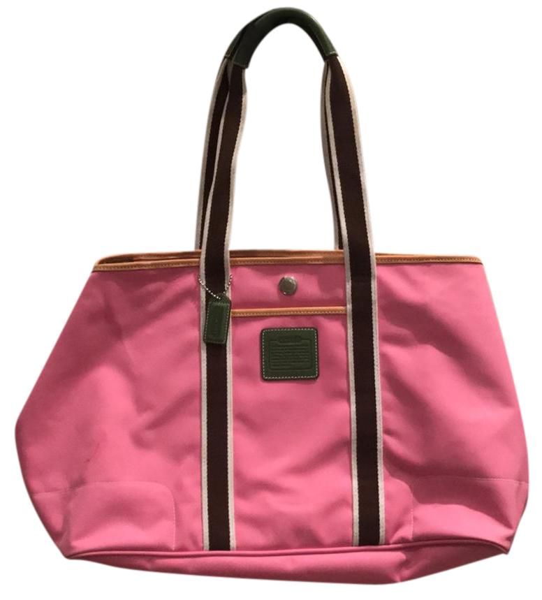 Coach Pink/Brown Travel Bag | Weekend/Travel Bags on Sale