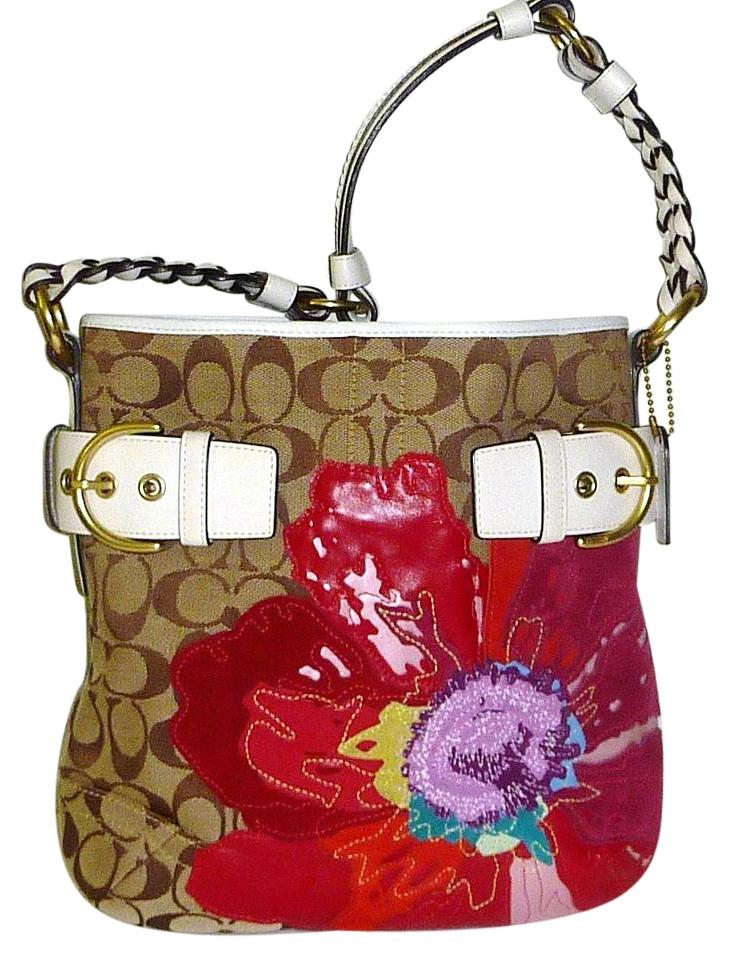 9630f658f834 ... promo code coach floral flower braided buckles brass shoulder bag 86c57  8aede closeout coach poppy ...