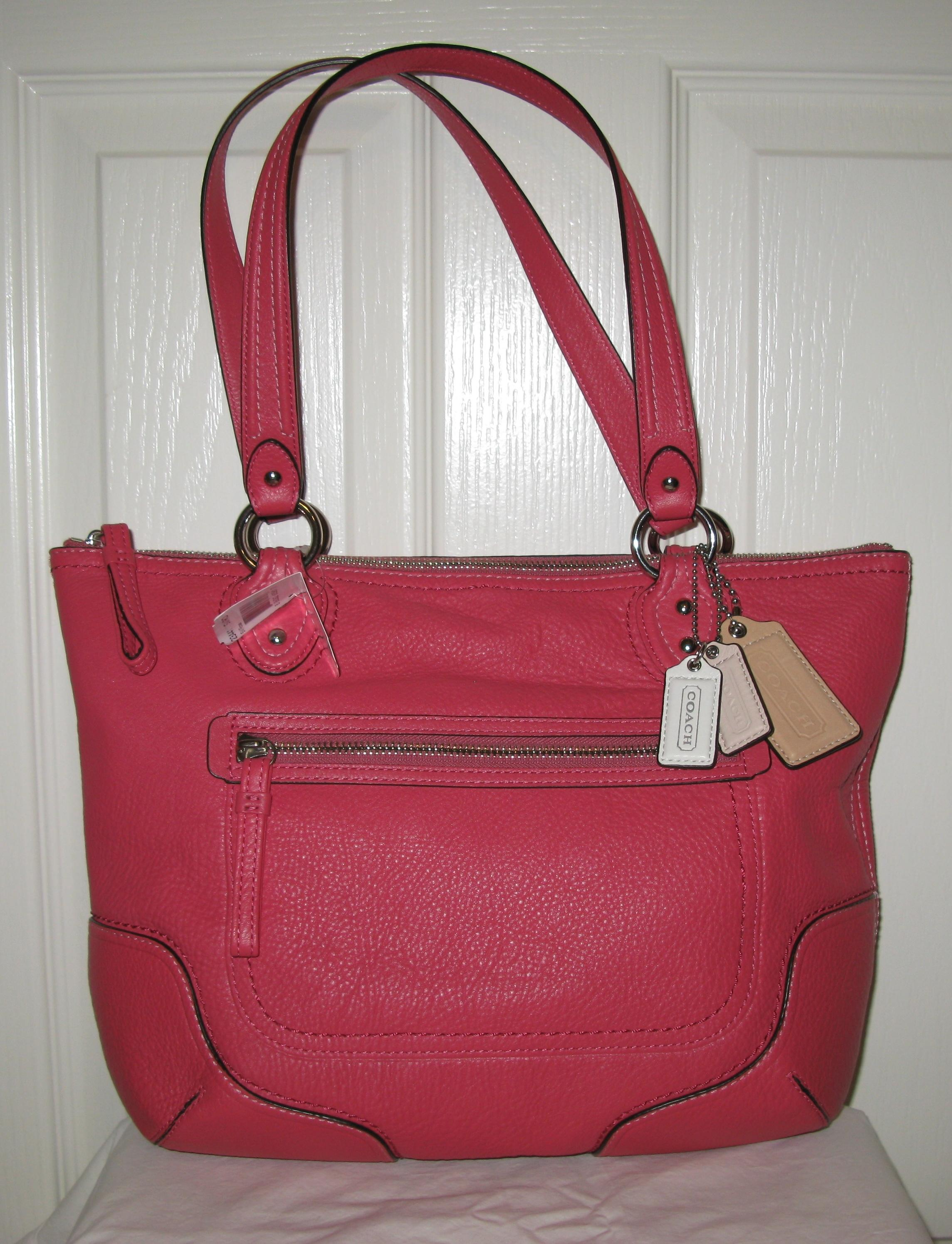 ... usa coach poppy small tote 23441 pink leather shoulder bag tradesy  f86b3 04740 159231c964739